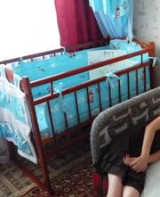 Детская кровать-качалка с кокосовым матрасом