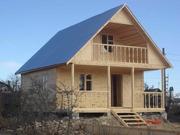 построим деревянные дома из оцилиндрованного бревна,  строганного и про